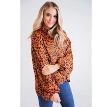 Leopard Dot Button Up Blouse