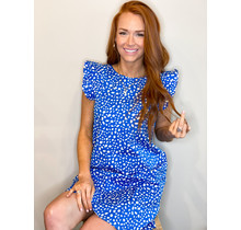 Vada Dress- Spotted Blue