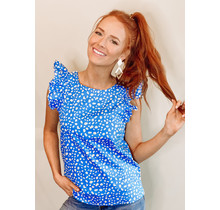 Vada Top- Spotted Blue