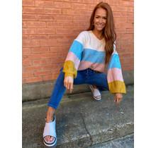 Pink Multi Stripe Sweater