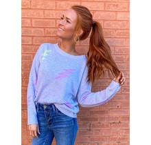 Pastel Lightening Bolt thin Sweater