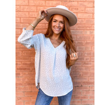 Pippa Top - Spotted Gray