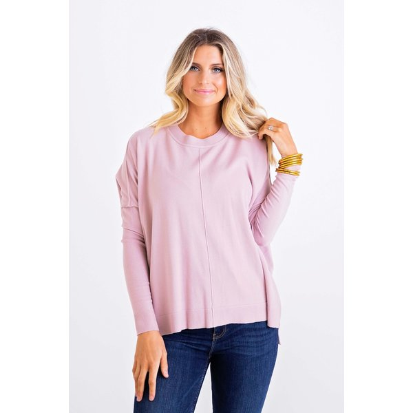 Blush Crew Novelty Sweater