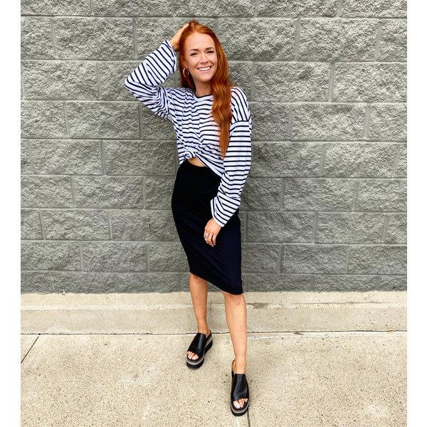 Knit Black Skirt