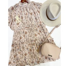 Pastel Floral Boho Tier Dress