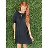 Black Scoop Neck Dress