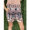 Terracotta tie dye Print Shorts