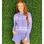 Violet Stripe Tie Dye Hoodie