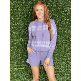 Violet Tie Dye Short