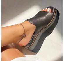 Black platform sandals -Flow