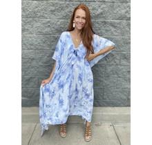 Mamie Dress- Blue Clouds