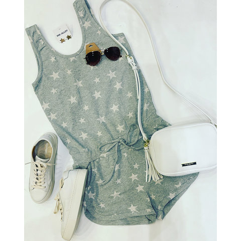 Grey/White All Star Terry Romper