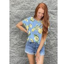 Lemon Print Pullover