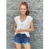 Natural Solid Scoop Sleeveless top