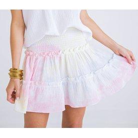 Rainbow Gauze Smock Skirt