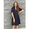 Black Short Sleeve Tiered Dress