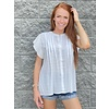 White Pleated Blouse