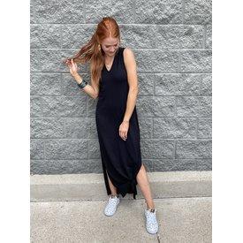 Black Column Maxi Dress