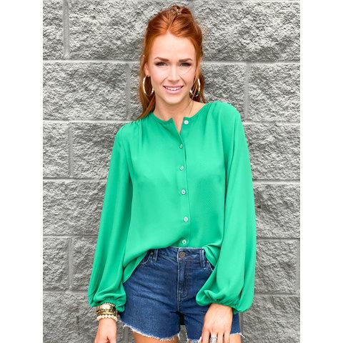 Green Swing Blouse