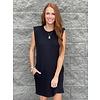 Black Tshirt dress W/ Shoulder Pad