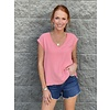 Coral Scoop Neck Slvless Top