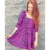 Lydia Fuchia Cat Dress