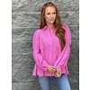 Hot Pink Tiered Baby Doll Blouse