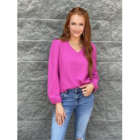Silas Top - Hot Pink