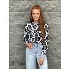 Leopard POP Sweatshirt- Silver Haze