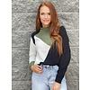 Blk/Oat/Olv Colorblock Sweater
