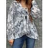 Isabel Paisley Print Tie Blouse