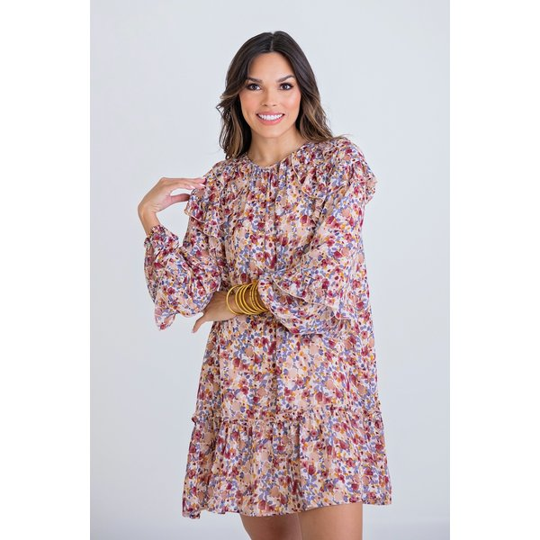 Small Ditzy Floral Ruffle Dress