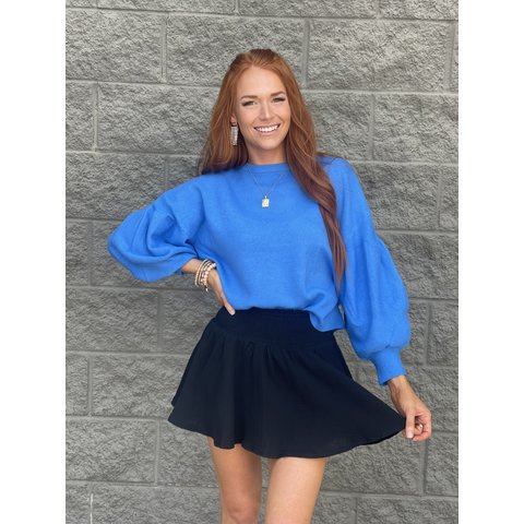 Blue Balloon Sleeved Sweater
