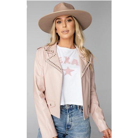 Trish Studded Blush Jacket