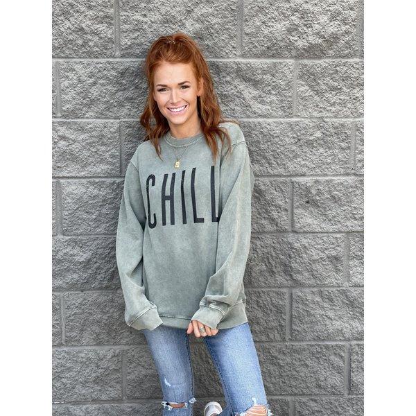 Olive CHILL Sweatshirt