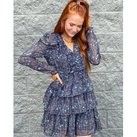 Adalyn Feathered Dress