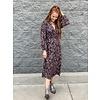Savannah VNeck Smocking Midi Dress