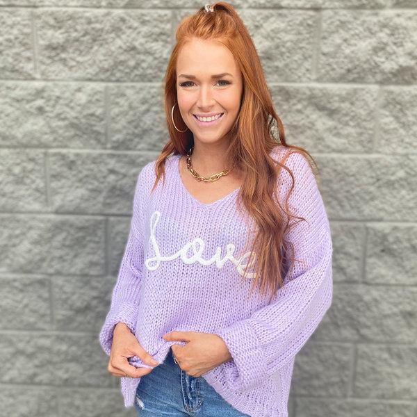 LOVE Lavender Sweater