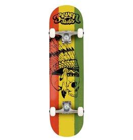 """Seven SEVEN SKATES Reggae Skull Complete Skateboard, 7.8"""""""
