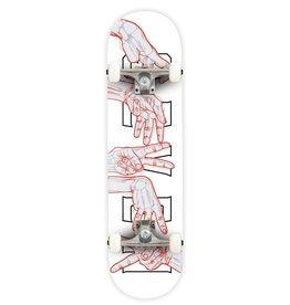 """Seven SEVEN SKATES Skeleton Hands Complete Skateboard, 7.8"""""""