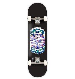 "Seven SEVEN SKATES Tie Dye Logo Black Complete Skateboard, 7.8"""