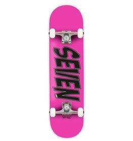 "Seven SEVEN SKATES Mini Essential Logo Complete Skateboard, Pink, 7.25"" X 29.125"""
