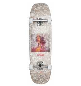 "Globe GLOBE Hammer Complete Skateboard, White Pearl/Psychotropics, 8.625"" x 31.75"""