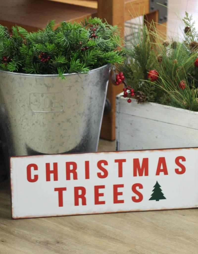 "24""L Metal Christmas Trees Wall Decor"