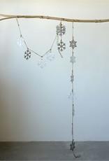 Tin Snowflake Garland