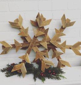 Reclaimed Wood Snowflake