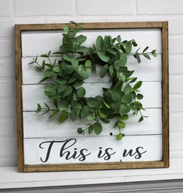 Shiplap Sign with Wreath