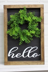 Hello Sign with wreath