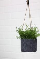 Hanging Pot Blue Leaf