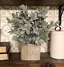 Artificial Sage Bush in square pot